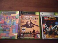 LEGO STAR WARS The Video Game + Clone Wars Tetris Worlds Combo Original Xbox Lot