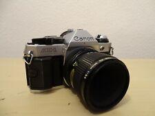 Canon AE-1 Program Kamera Analog Spiegelreflex inkl. Objektiv Lens Macro FD 50mm