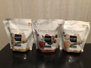 Lot of 3 Renuzit Aroma Crystal Elements 2 Amber Vanilla-1 Ruby Berries 18 Oz New