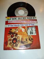 "SCOTT FITZGERALD & YVONNE KEELEY - If i had words - 1977 EEC 7"" Juke Box"