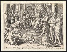 Antique Master Print-1 KINGS 3-SOLOMON-JUDGEMENT-Anonymous-ca. 1620