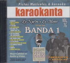 Gerardo Ortiz Banda El Recodo Calibre 50 Banda 1 Vol 76 2 CD Karaoke Karaokanta