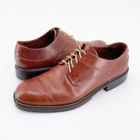 Cole Haan Mens Oxfords Shoes Brown Leather Lace Up Almond Toe Low Heel 11.5 D