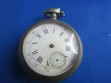 ancienne grosse montre a gousset  epoque 19 eme argent chronometre chasseur