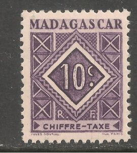 Madagascar (French) #J31 (D3) VF MINT NH - 1947 10c Postage Due