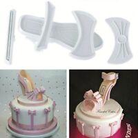 9pcs DIY Lady High-Heeled Shoes Fondant Cake Sugarcraft Baking Mould Hot Sale