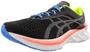 ASICS Men's Novablast Running Shoes, Black/Black/White, 12 D(M) US