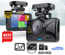 "LUKAS Qvia V939 Adas Dual Save Dashcam 2ch FHD 3.5"" LCD GPS Night Vision 8g 8g"