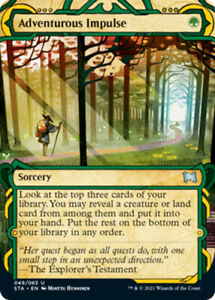1x (049/063) Adventurous Impulse - FOIL MTG Strixhaven: Mystical Archive NM Magi