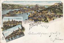 AK Passau Innstadt Gesamtansicht Litho gel 1899 Niederbayern