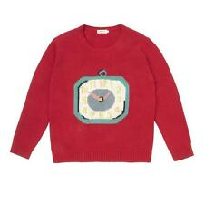CATH KIDSTON KNITTED CLOCKS INTARSIA JUMPER IN RED SIZE XS  RRP £70.00 BNWT