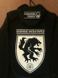 Legion Werewolf Black Metal Hooded Top Satanic Warmaster Strength & Honour