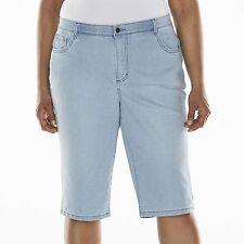 Womens Gloria Vanderbilt Blue White Stripe Shorts 20w