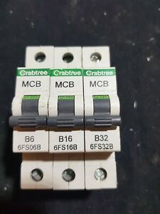 CRABTREE MCB 6FS06B B6 6A 6FS16B B16 16A 6FS32B B32 32A