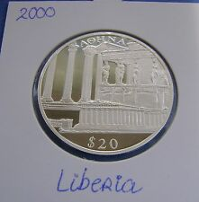 Liberia - 20 dollars 2000 Athene - Silver - PROOF