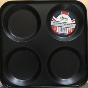 WHAM Yorkshire Pudding 4 Cup Baking Tray / Non-Stick / UK