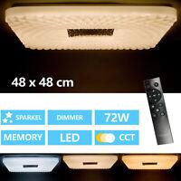 Plafonnier Salon LED avec Télécommande 72W Plafonnier Intensité Variable Tdc