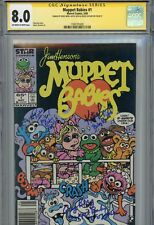 MUPPET BABIES #1 Cast x3 Signed RUSSI TAYLOR~GREG BERG~KATIE LEIGH (CGC SS 8.0)