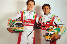 Chandhok & Senna  SIGNED Driver Portrait , Formula E Team Mahindra Racing
