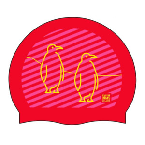 Swim Secure Silicone Swim Cap - Penguin Design - One Size *NEW*