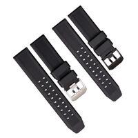 Herren Silikon Gummi Uhrenarmband Uhrarmband für Luminox 23MM Armbanduhr Band