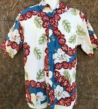 Exotic Campia TiKi Island Hawaiian Shirt Men's Small Bright Tropical Print