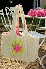 Martin Storey Rowan Beach Bag Knitting Pattern from Magazine Light Cotton DK