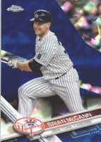 BRIAN MCCANN 2017 TOPPS CHROME SAPPHIRE EDITION #48 ONLY 250 MADE