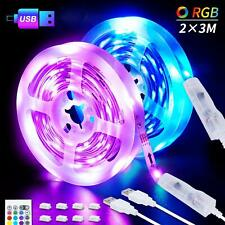 LED Strips Lights, 6M USB LED Lights 2x3M SHINELINE RGB SMD 5050 Color Changing