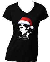 Elvis Christmas Women's Gildan Black Quality Tees 100% Cotton sizes XS to XXL