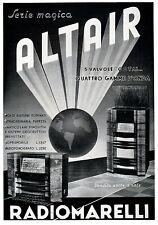 PUBBLICITA' 1942 RADIOMARELLI RADIO ALTAIR 5 VALVOLE ONDE OCTAL SERIE MAGICA