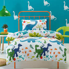 DINOSAURS DOUBLE  bed QUILT DOONA DUVET COVER SET NEW