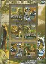 Timbres Animaux Félins Guinée 3447/52 o année 2008 lot 23421 - cote : 15 €