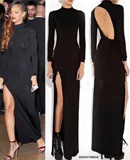 Celebridades como Rihanna Vestido De Noche Mujer ropa sin espalda Fiesta Cocktail Dress
