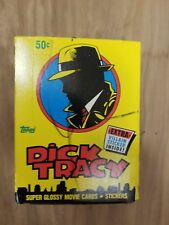 Topps Dick Tracy Movie Cards Unopened Box Vintage Collectible