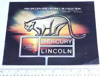 1980 Mercury Lincoln Ad Fine Car Collection Brochure Vintage