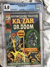 Astonishing Tales #6 CGC 5.0 OW Pgs (6/71) Dr. Doom, Black Panther, 🔑 MCU Issue