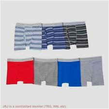 Hanes Boys' 7pk Boxer Briefs -Small--colors from black,blue,grey,see description