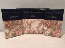 Ralph Lauren Guinevere Hollywood Cream Floral 3PC King Duvet Cover Shams Set