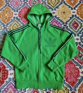 Vintage Adidas Ventex Track Hoodie Green Made in France