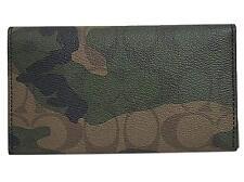 Coach Camouflage Universal Dark Green/Mahogany Phone Case Wallet F12000
