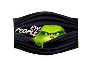 LG - GRINCH EW PEOPLE-BK - Face Mask, Comfortable, Washable-Made in the USA