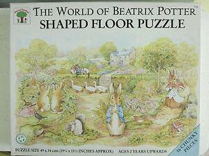 BEATRIX POTTER FLOOR JIGSAW PUZZLE 1992 F. WARNE 16 PC MICHAEL STANFIELD ENGLAND