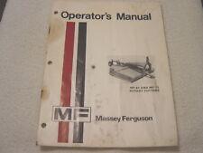 MASSEY FERGUSON MF 61 71 ROTARY CUTTERS OPERATOR MANUAL