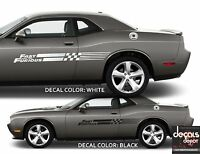 2X UNIVERSAL Decal Stripes THE FAST AND THE FURIOUS Mazda RX-7 Ford F150 SVT etc