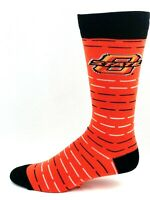 For Bare Feet Oklahoma State Cowboys Orange Crew Socks with Black White Stripes