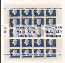 1962/63 CANADA 5 CENT QEII CAMEO CELLO-PACK FOR POCKET OR PURSE  MNH