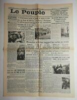 N547 La Une Du Journal Le peuple 2 août 1936 guerre de Espagne Mussolini Hitler