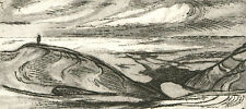 H. Cadwell - 1980 Etching, Figure in a Landscape