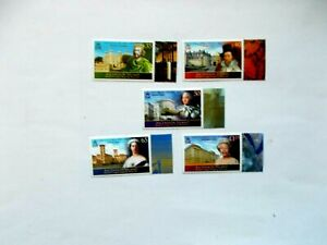 ASCENSION ISLAND: 2008 longest Reigning Monarchs 5 stamps U/M Sg1024/28